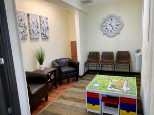 waiting room of child counseling center in johnson city tn